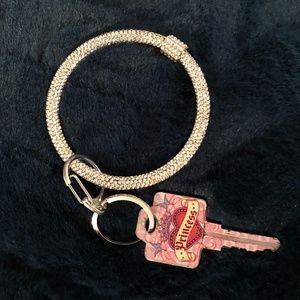 🆕🎁❤️ Crystal bracelet keychain gift
